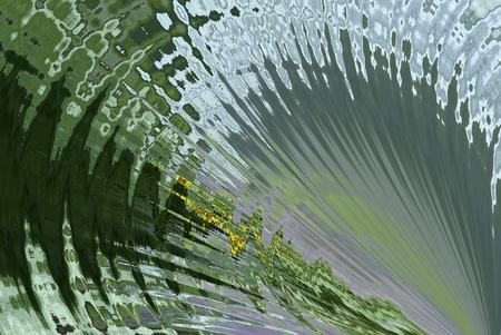 algorithms: A digitally generated image using a set of algorithms on an original photo to create a deep sea like illusion.  Stock Photo
