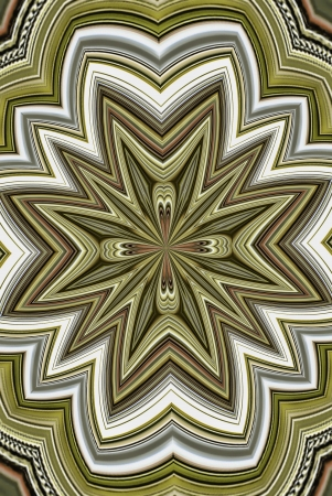 algorithms: A digitally generated image using a set of algorithms on an original photo to createthe look of an ornate locket abstract.