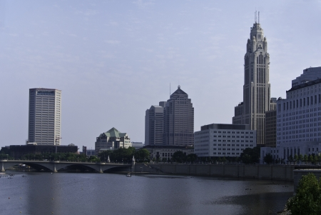 One view of the city of Columbus Ohio skyline.