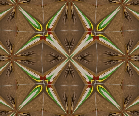 algorithms: A digitally generated image using a set of algorithms on an original photo creating a southwest-style design.