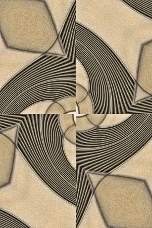 algorithms: A digitally generated image using a set of algorithms on an original photo creating lines, patterns and textures of hand carved leather.