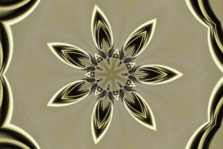 A digitally generated image using a set of algorithms on an original photo creating shapes and patterns of jewelry.  Stock Photo