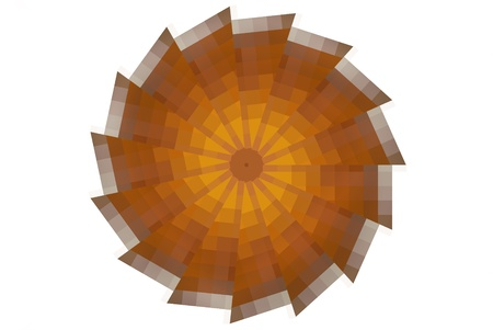 resemble: lines and patterns that resemble orange slices.