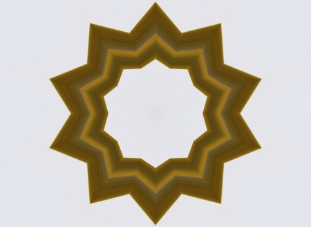 algorithms: A digitally generated image using a set of algorithms on an original photo creating the shape of a star with a wood like texture.  Stock Photo