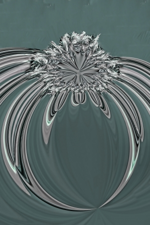 A digitally generated image using a set of algorithms on an original photo creating the look of a diamond ring.