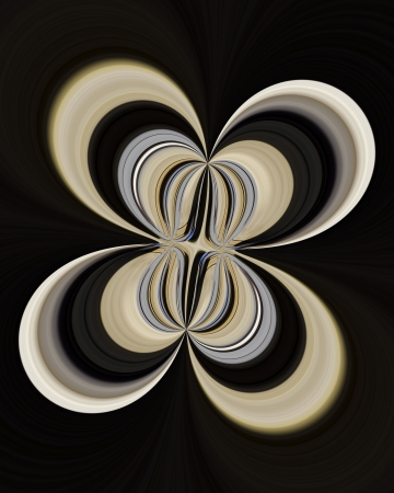A digitally generated image using a set of algorithms on an original photo creating a look of flower petals.