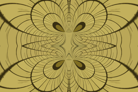 yellow roof: A digitally generated image using a set of algorithms on an original photo of a yellow roof top creating this image of shapes, lines and curves.