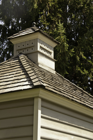 cladding tile: roof of a wooden house