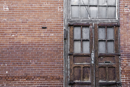 A warehouse that has been left emplty and unused for many years.  Stock Photo