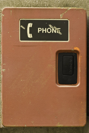 Vintage phone box usded on college campuses.