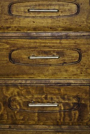 A small set of dresser drawer and their basic handles. 版權商用圖片