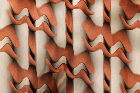 algorithms: A digitally generated image using a set of algorithms on an original photo of a ball cap on a shelf. Stock Photo