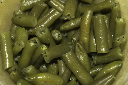 A  portion of seasoned green beans for a healthy and delisions meal.