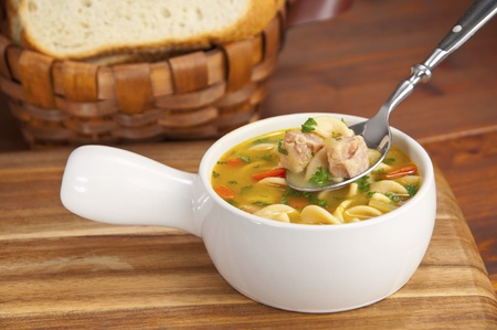 chunky: Chunky chicken noodle soup