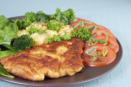 Breaded Veal schnitzel photo