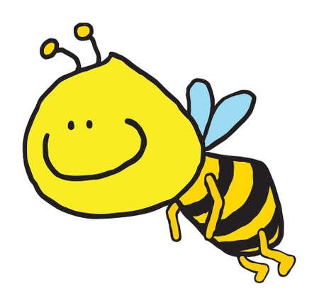 Sweet bee - funny cartoon