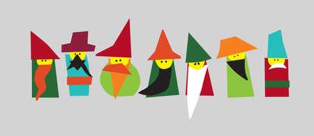 seven dwarfs: 7 Dwarfs vector