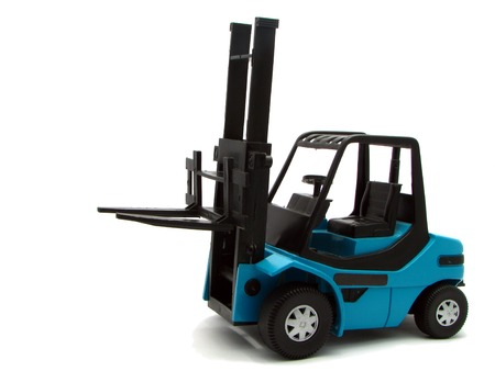 lift truck: Fork lift truck toy Stock Photo