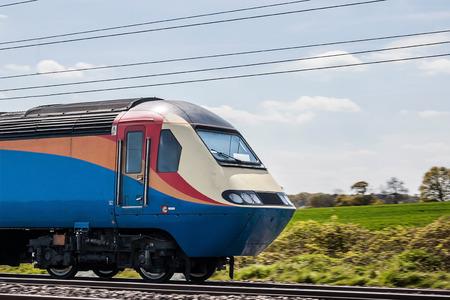 fast train: Fast train in motion