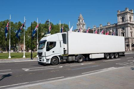 despatch: White lorry in London