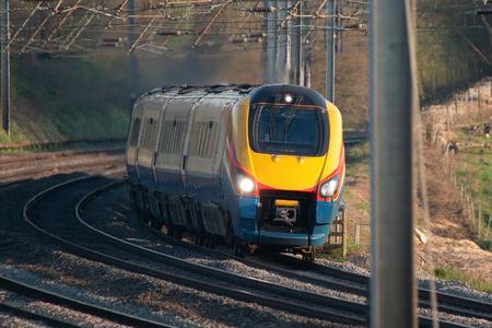 British passenger train in motion