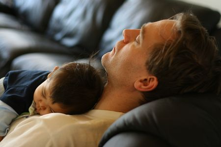 Father and son sleeping like a baby Stock Photo - 1327178
