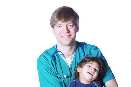 smock: Doctor with little patient