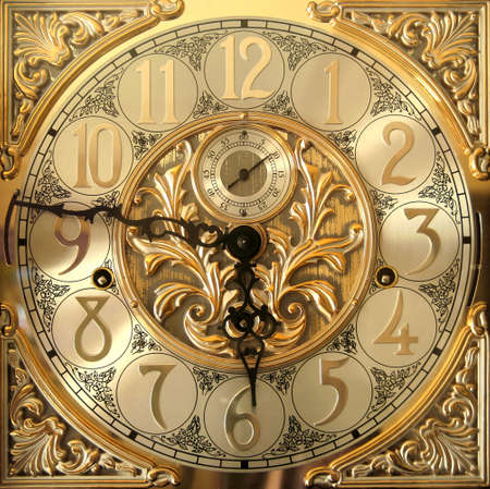 grandfathers: Elegant grandfather clock face