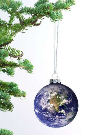a courtesy: The world as an ornament. Earth picture courtesy of Nasa.