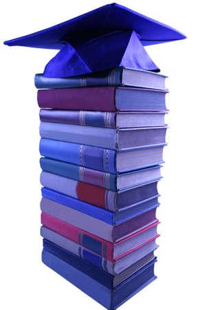 Graduatie initiaal boven op boek pool