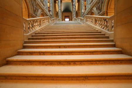 shadowed: Shadowed marble stairway