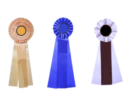 Set of three satin ribbons Stock Photo - 3519905