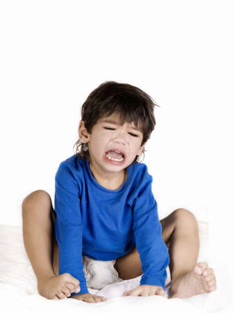 physically: Angry crying toddler boy