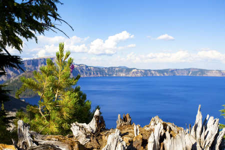 crater lake: Scenic view of Crater Lake National Park, Oregon, WA