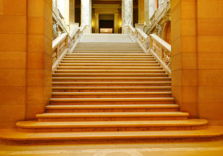 shadowed: Shadowed marble stairway at the St Paul capitol building