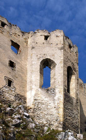 Ruined chapel of a Beckov castle situated in the village Beckov in the west of Slovakia in Trencin region. The Castle of Beckov is opened to public and it is definitely worth a visit. photo