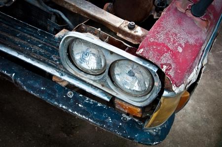 close-up old car
