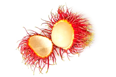 rambutan on white background Stock Photo