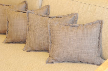 pillows on couch