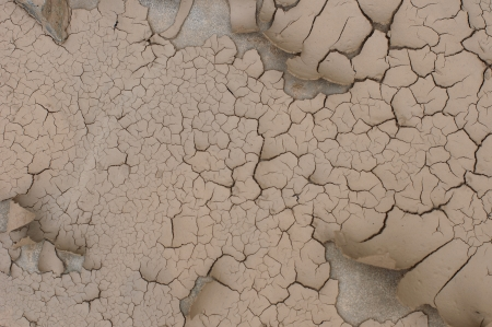 Dry and cracked earth background