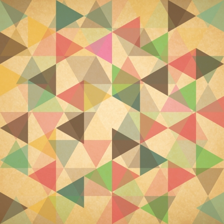 parallelepiped: Retro pattern of geometric shapes. Retro triangle background Stock Photo