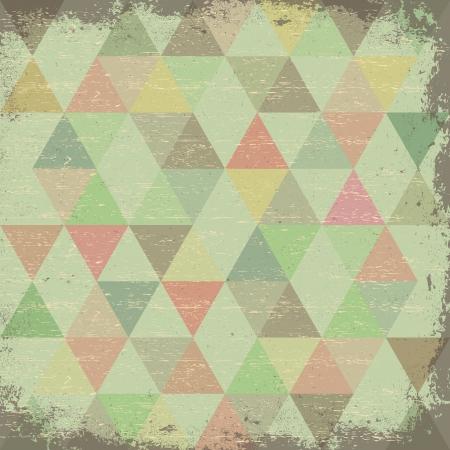 Retro pattern of geometric shapes. Retro triangle background Stock Photo