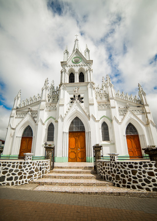 isidro: Front of the San Isidro Catholic Church