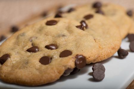Vegan Chocolate Chips Cookies Stock Photo