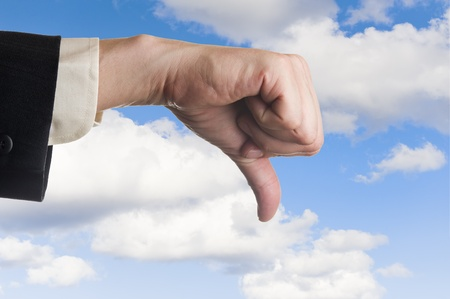 Thumb down! Stock Photo
