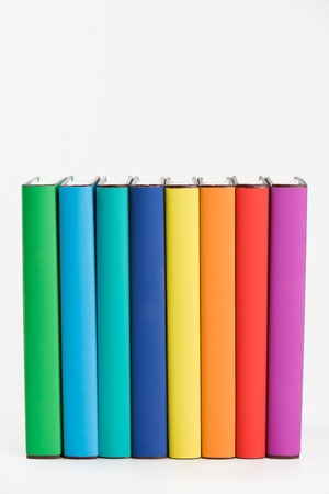 Colorful books and white background. 版權商用圖片