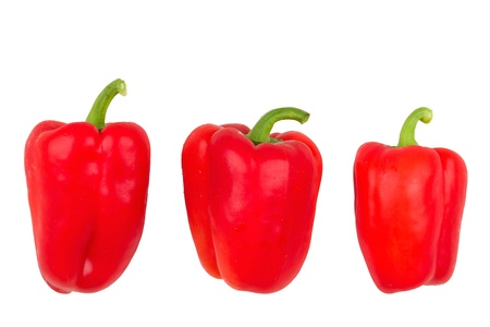 Sweet pepper and white background. photo