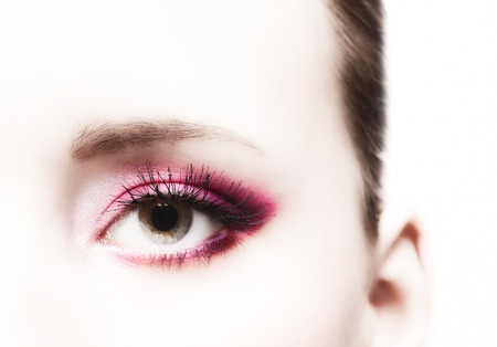 Close-up, beautiful woman's eye and perfect makeup, beauty and fashion photo