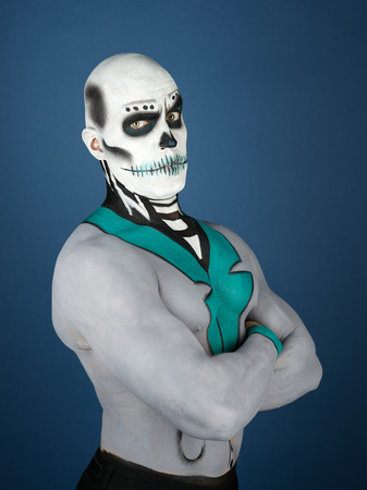 bodypainting: Dia de los Muertos - the Day of the Dead, painted male
