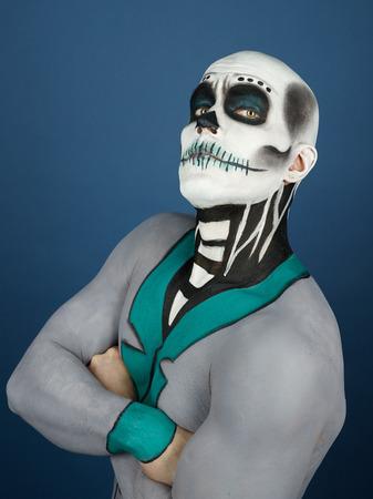 dia de los muertos: Dia de los Muertos - the Day of the Dead, painted male